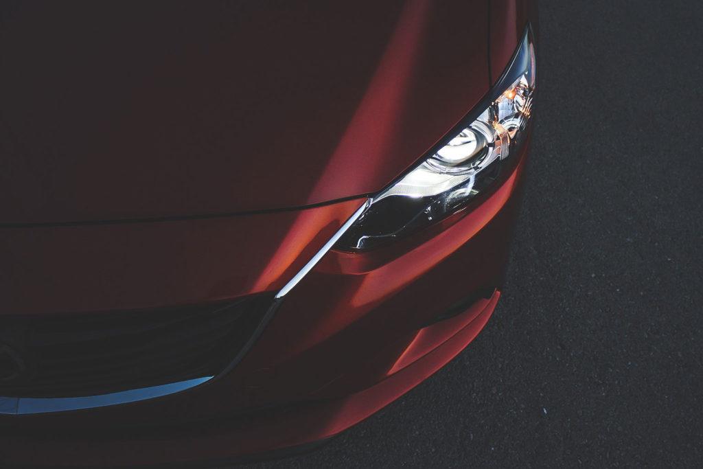 red car hood