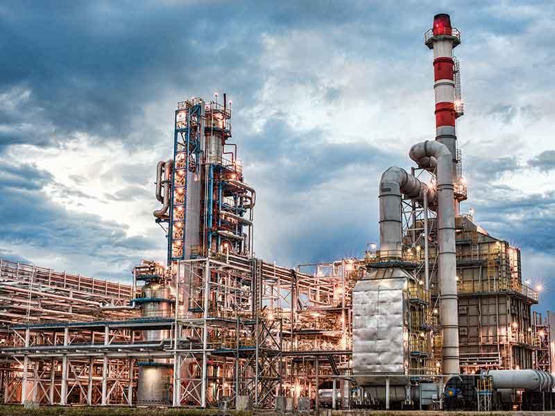 petrochemicals plant